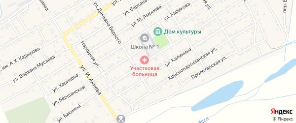Бакиной переулок на карте Ассиновской станицы с номерами домов