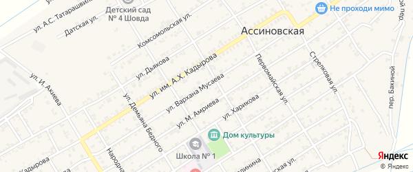Переулок 50 лет Октября на карте Ассиновской станицы с номерами домов