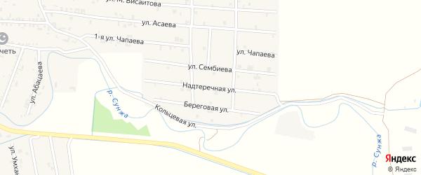Надтеречная улица на карте Серноводского села с номерами домов