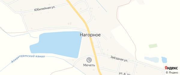 Братская улица на карте Нагорного села с номерами домов