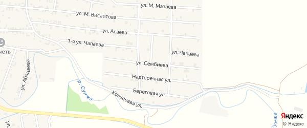 Улица Сембиева на карте Серноводского села с номерами домов