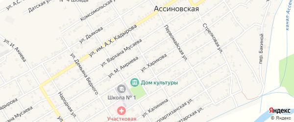 Красноармейская улица на карте Ассиновской станицы с номерами домов