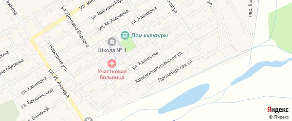 Улица Калинина на карте Ассиновской станицы с номерами домов