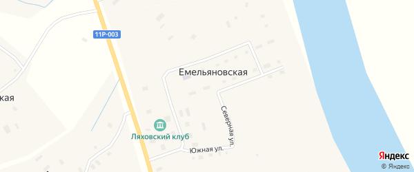 Северная улица на карте Емельяновская 2-я деревни с номерами домов