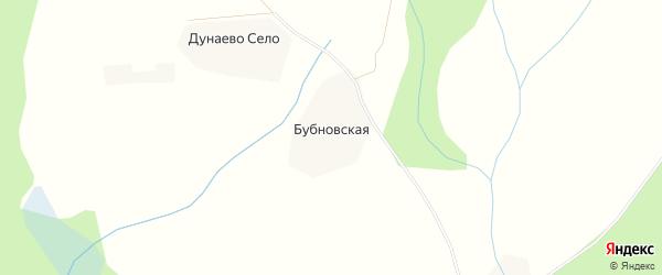 Карта Бубновской деревни в Архангельской области с улицами и номерами домов