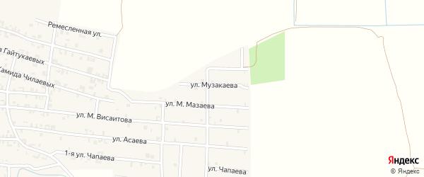 Улица Музыкаева на карте Серноводского села с номерами домов