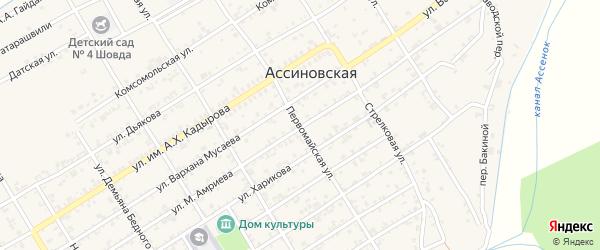 Первомайская улица на карте Ассиновской станицы с номерами домов