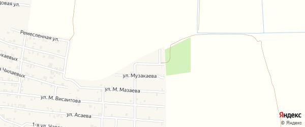 Грушевая улица на карте Серноводского села с номерами домов