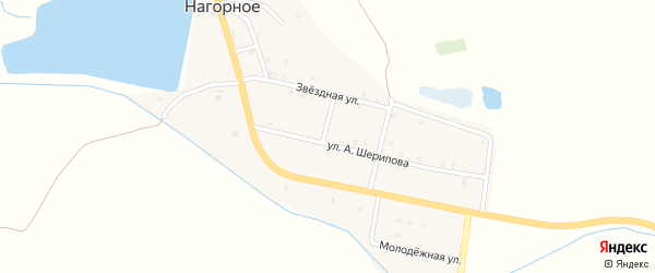 Прудная улица на карте Нагорного села с номерами домов