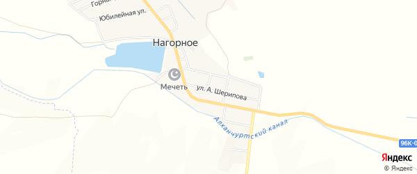 Карта Нагорного села в Чечне с улицами и номерами домов