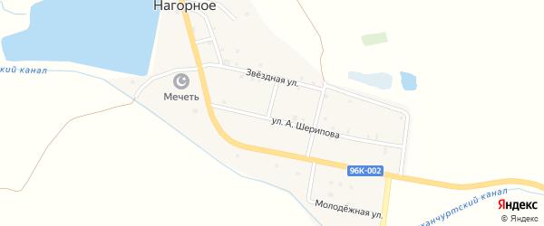 Полгорная улица на карте Нагорного села с номерами домов