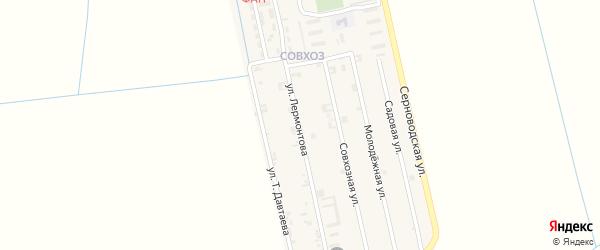 Улица Лермонтова на карте Ассиновской станицы с номерами домов