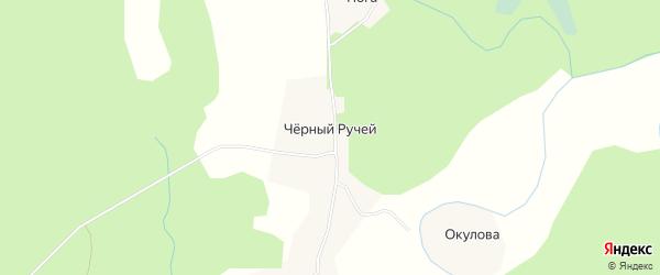 Карта деревни Черного Ручья в Архангельской области с улицами и номерами домов