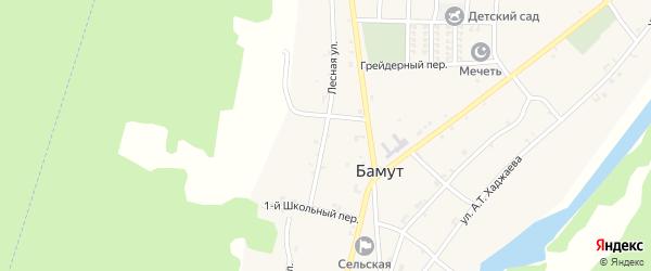 Лесная улица на карте села Бамут с номерами домов