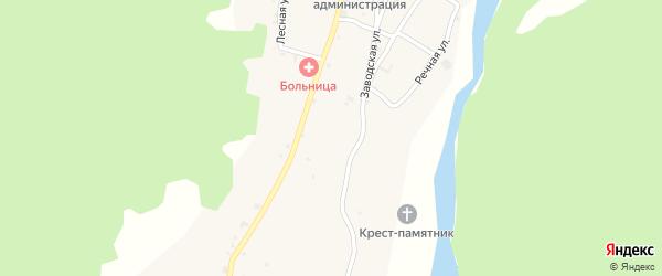 Заводская улица на карте села Бамут с номерами домов
