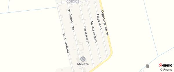 Совхозная улица на карте Ассиновской станицы с номерами домов
