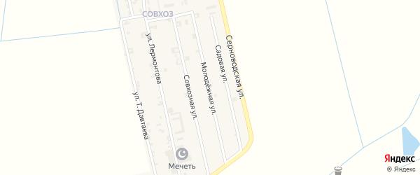 Молодежная улица на карте Ассиновской станицы с номерами домов