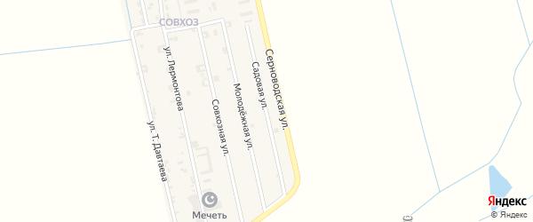 Садовая улица на карте Ассиновской станицы с номерами домов