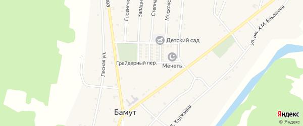 Грейдерный переулок на карте села Бамут с номерами домов
