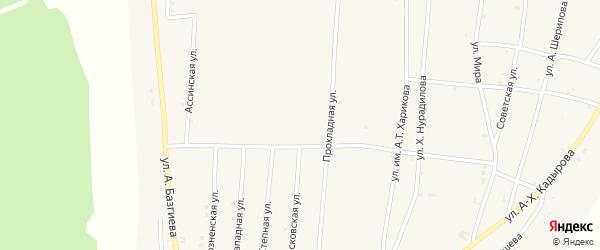 Степная улица на карте села Бамут с номерами домов
