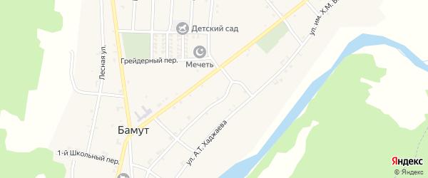 Коммунистическая улица на карте села Бамут с номерами домов