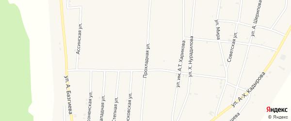Московская улица на карте села Бамут с номерами домов