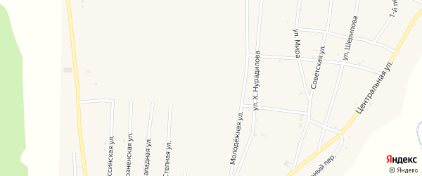 Прохладная улица на карте села Бамут с номерами домов