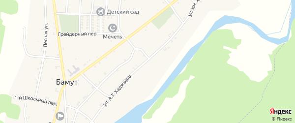 Больничная улица на карте села Бамут с номерами домов