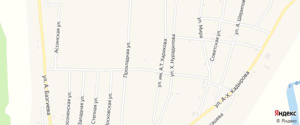 Садовая улица на карте села Бамут с номерами домов