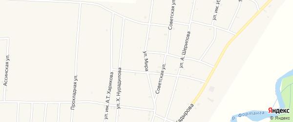 Улица Мира на карте села Бамут с номерами домов