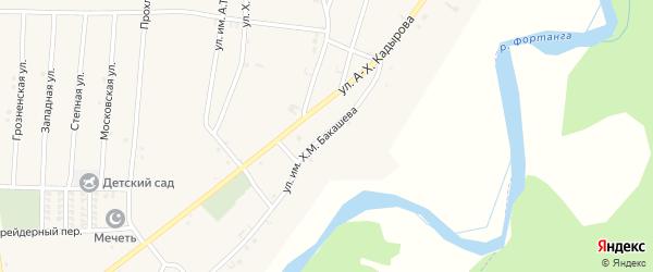 2-й Центральный переулок на карте села Бамут с номерами домов