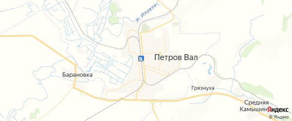 Карта Петрова Вала с районами, улицами и номерами домов