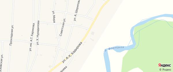 Центральная улица на карте села Бамут с номерами домов