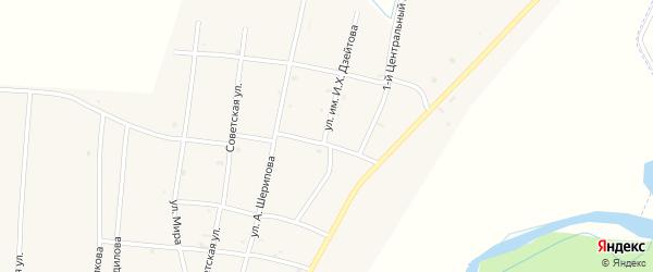 Переулок 1-й Шерипова на карте села Бамут с номерами домов