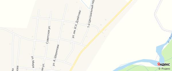 1-й Центральный переулок на карте села Бамут с номерами домов