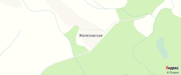 Карта Железовской деревни в Архангельской области с улицами и номерами домов