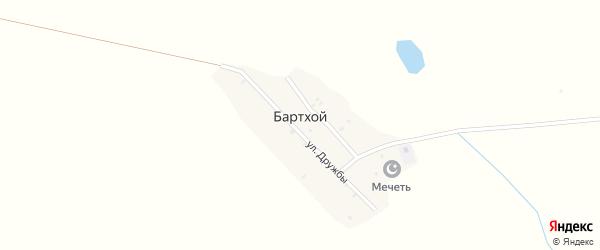 Трудовая улица на карте села Бартхоя с номерами домов