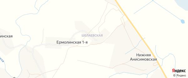 Карта Шалаевской деревни в Архангельской области с улицами и номерами домов