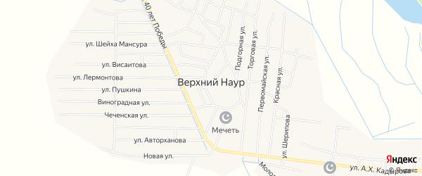 Территория ФАП на карте села Верхний-Наур с номерами домов