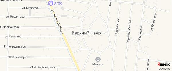Улица Им Шейха-Мансура на карте села Верхний-Наур с номерами домов