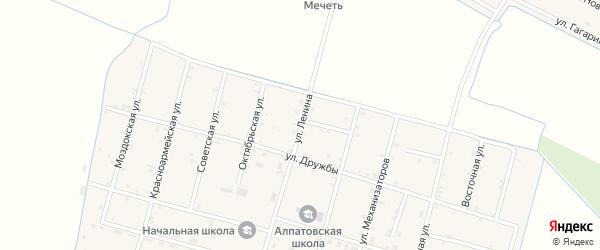 Улица Ленина на карте села Алпатово с номерами домов