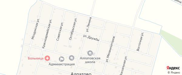 Улица Дружбы на карте села Алпатово с номерами домов