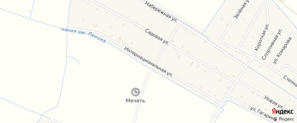 Интернациональная улица на карте села Алпатово с номерами домов