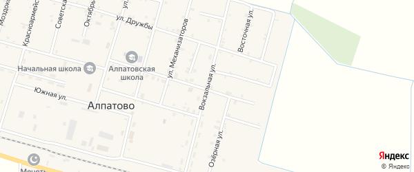Вокзальная улица на карте села Алпатово с номерами домов