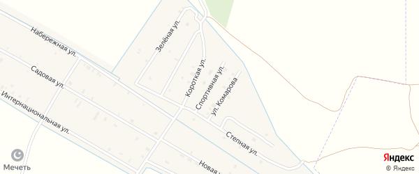 Спортивная улица на карте села Алпатово с номерами домов