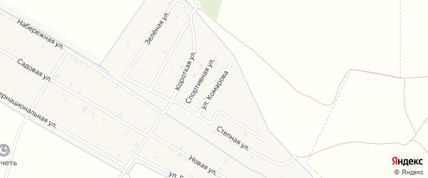 Улица Комарова на карте села Алпатово с номерами домов
