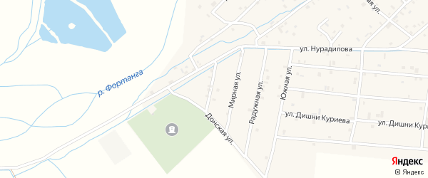 Улица Б.Хмельницкого на карте села Ачхой-мартана с номерами домов