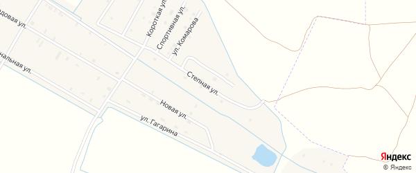 Степная улица на карте села Алпатово с номерами домов