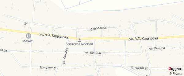 Улица Им А-Х.Кадырова на карте села Верхний-Наур с номерами домов