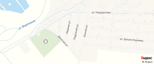 Радужная улица на карте села Ачхой-мартана с номерами домов